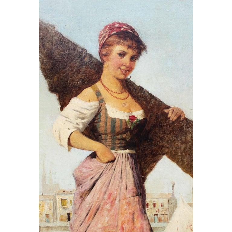 Belle Époque Italian Oil on Canvas
