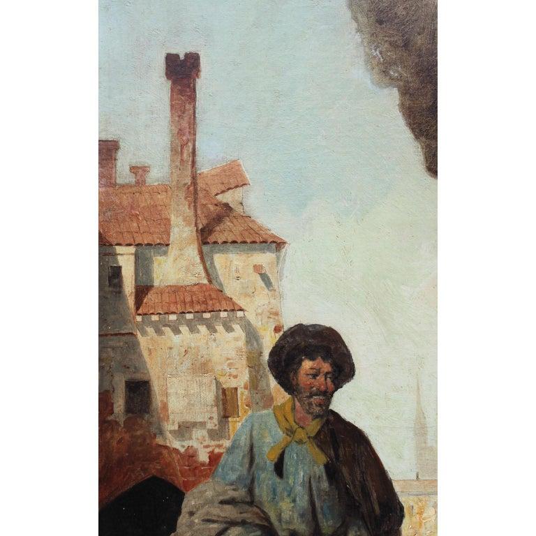20th Century Italian Oil on Canvas