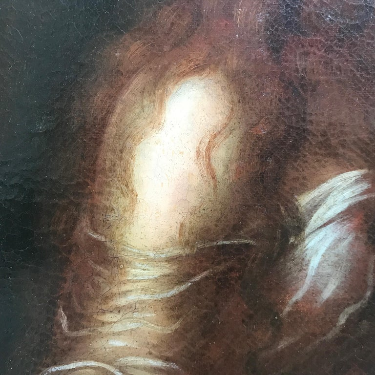 Italian Old Master Penitent Magdalene 18th Century Oil Painting on Canvas For Sale 6
