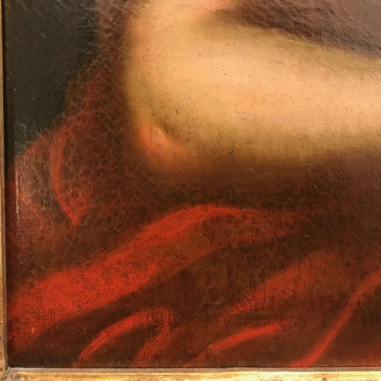 Italian Old Master Penitent Magdalene 18th Century Oil Painting on Canvas For Sale 2