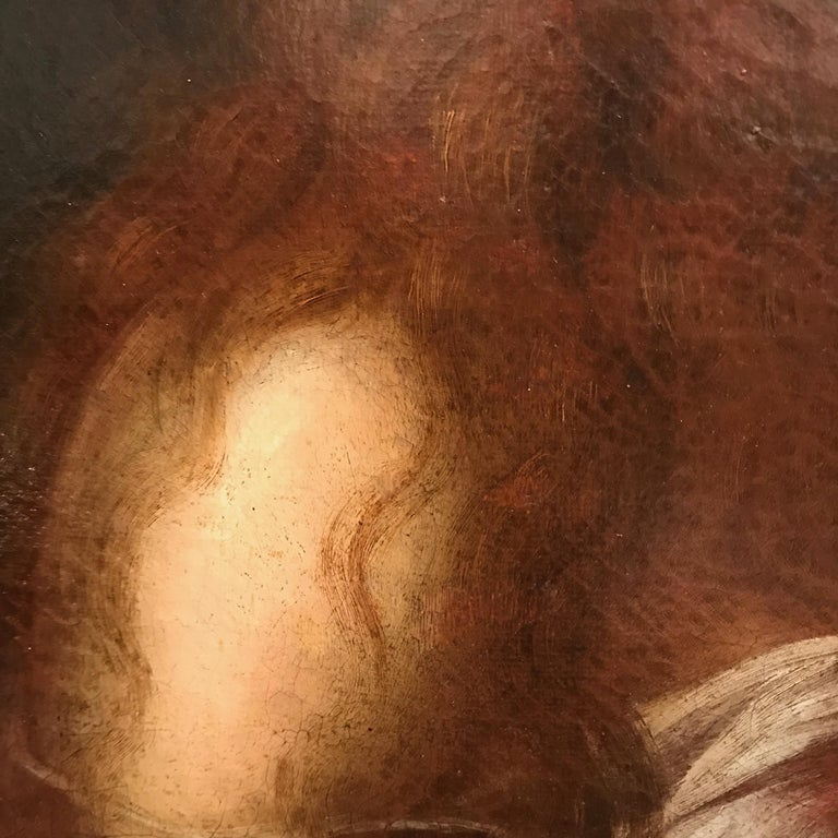 Italian Old Master Penitent Magdalene 18th Century Oil Painting on Canvas For Sale 3
