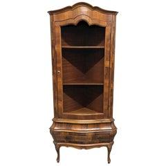 Italian Olivewood Corner Cabinet