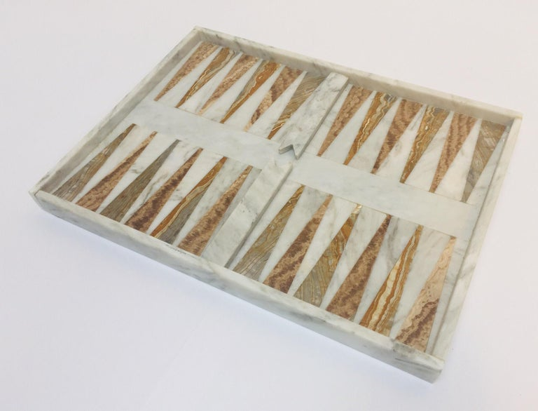 Italian Onyx And Marble Backgammon Set 1960s At 1stdibs