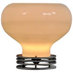 Italian Opaline Lamp, 1970s