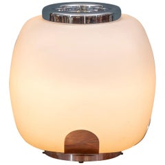 Italian Opaque Glass Table Lamp Jardinière
