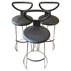 Italian Open-Back Bar Stools Late-20th Century