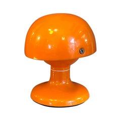 Italian Orange Metal Table Lamp Jucker, by Tobia Scarpa for Flos, 1963