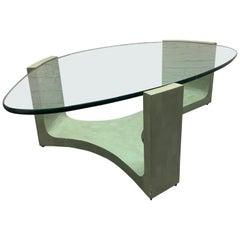 Italian Organic Shaped Tessellated Coffee Table