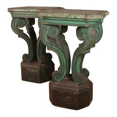 Italian Original Painted Console Tables