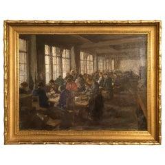 Italian Original Painting Tableau Atelier Femmes by Lionello Balestrieri