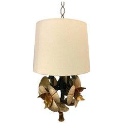 Italian Ornate Pendant Floral Lamp