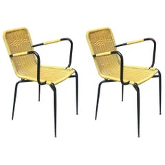 Italian Outdoor Yellow Scooby Chairs, 1960s