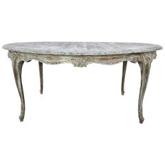 Italian Oval Distressed Table, 19th Century