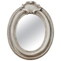 Plaster Oval Mirror