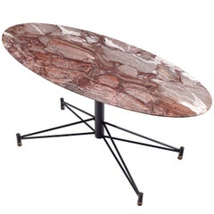 Italian Oval Marble Coffee Table