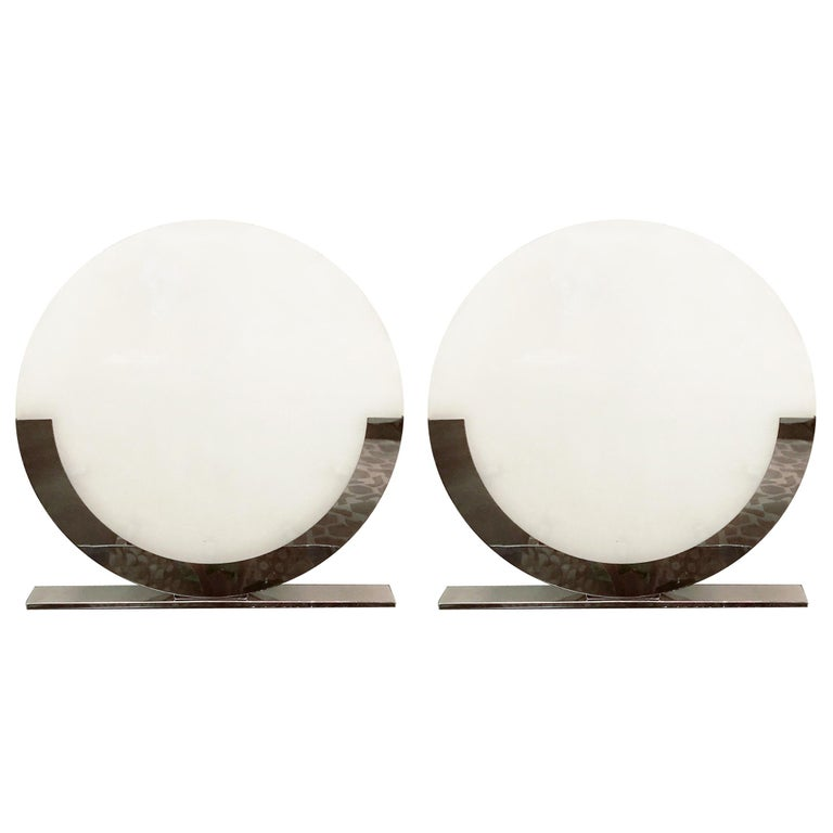 Italian Oversized Table Lamps / Floor Lamps For Sale
