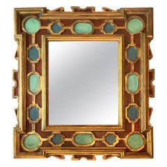 Italian Painted and Gilt Mirror