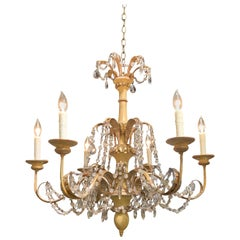 Italian Painted and Giltwood 6-Light Chandelier