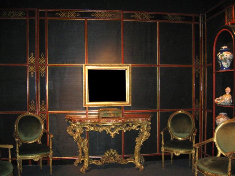 Italian Painted and Parcel-Gilt Japoneserie Boiserie Panels For Sale 6