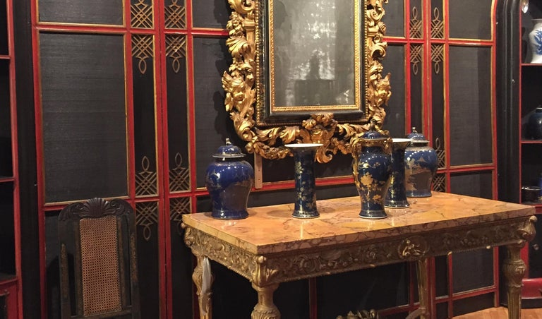 Italian Painted and Parcel-Gilt Japoneserie Boiserie Panels For Sale 9