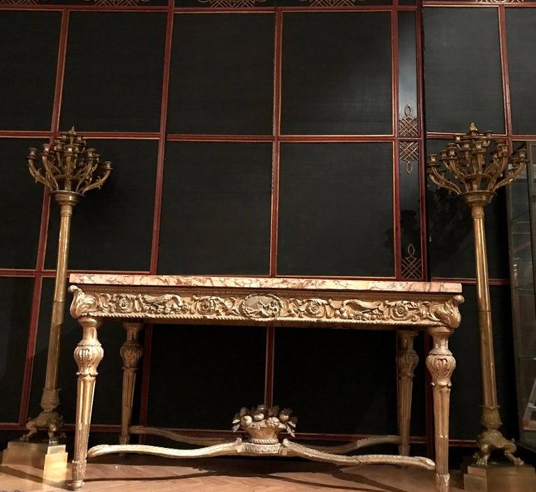 Italian Painted and Parcel-Gilt Japoneserie Boiserie Panels For Sale 10