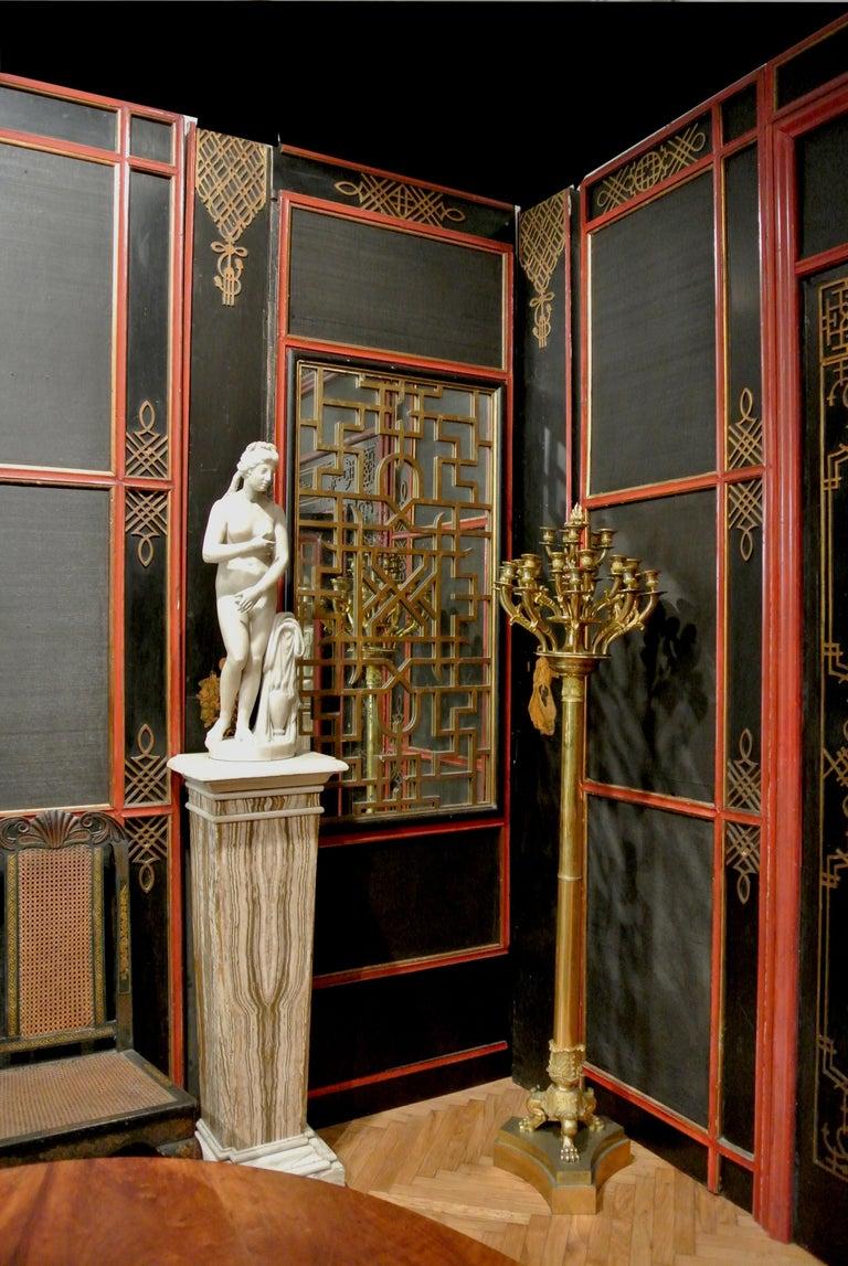 Italian Painted and Parcel-Gilt Japoneserie Boiserie Panels For Sale 11