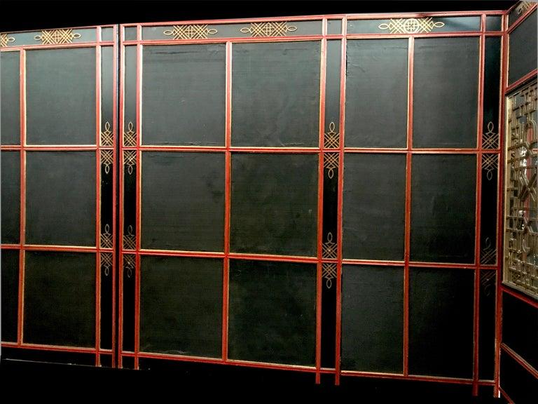 Italian Painted and Parcel-Gilt Japoneserie Boiserie Panels For Sale 12