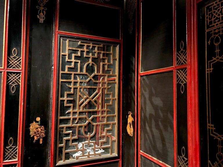 Italian Painted and Parcel-Gilt Japoneserie Boiserie Panels For Sale 1