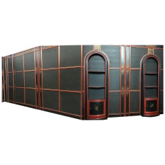 Italian Painted and Parcel-Gilt Japoneserie Boiserie Panels