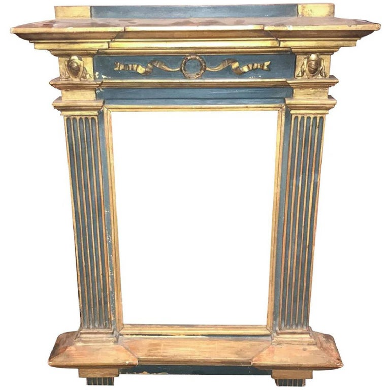 Italian Painted and Parcel-Gilt Mirror Frame
