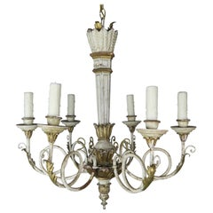 Italian Painted and Parcel-Gilt Neoclassical Style Chandelier