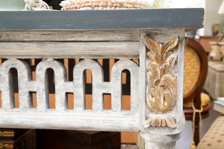 Other Italian Painted and Parcel Gilt Neoclassical Style Console For Sale