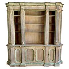 Italian Painted Bookcase, C. 1900