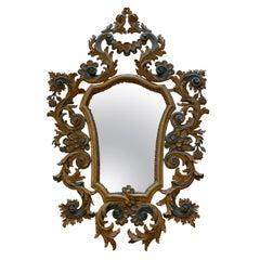 Italian Painted Cartouche Mirror