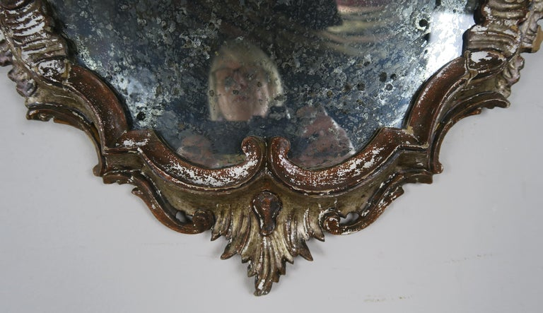 Italian Painted Carved Mirror, circa 1930s For Sale 1