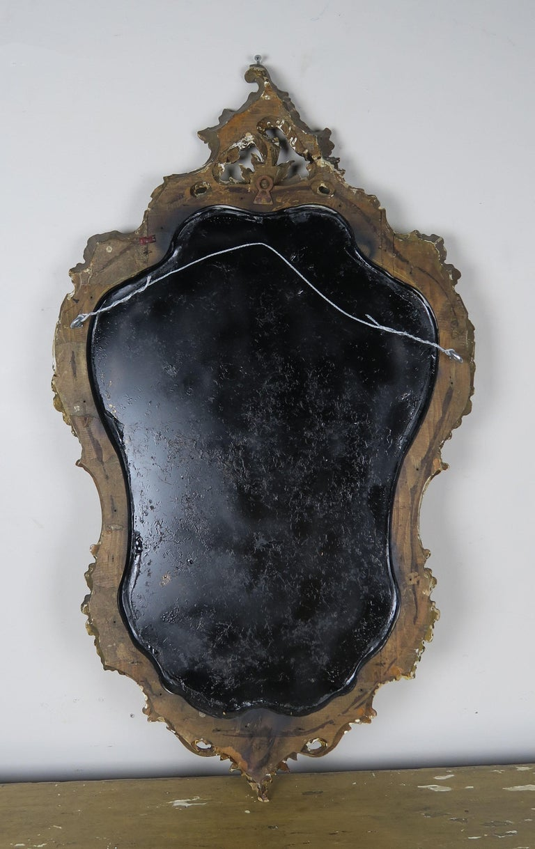 Italian Painted Carved Mirror, circa 1930s For Sale 3