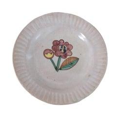 Italian Painted Flower Plate