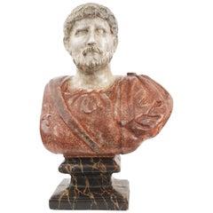 Italian Painted Roman Emperor Bust