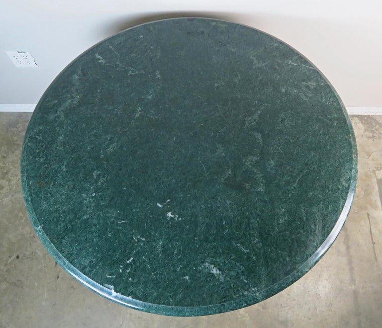 Italian Painted Tripod Dolphin Base Table with Marble Top For Sale 6