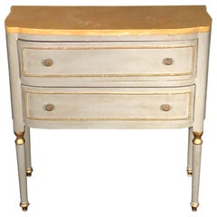 Italian Painted Two-Drawer Gustavian Style Commode Chest of Drawers
