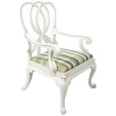 Italian Painted Upholstered Armchair