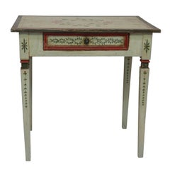 Italian Painted Writing Table, Desk, Side Table, Early 19th Century