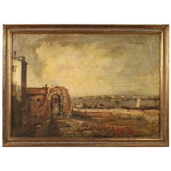 Italian Painting Seascape, 20th Century