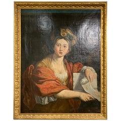 """Italian Painting """"Sibila Cumana"""", 18th Century"""
