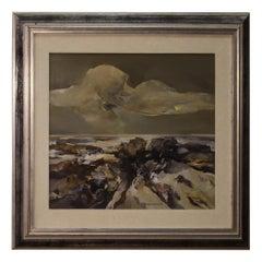 Italian Painting Signed Ferruccio Rosini Seascape, 20th Century