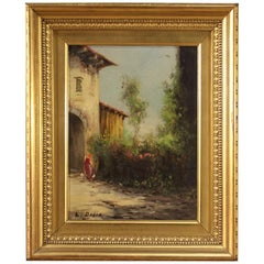 Italian Painting Signed Landscape of the 20th Century