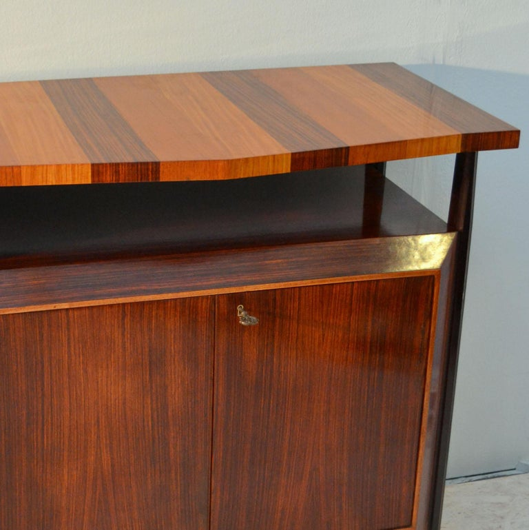 Pair of Cabinets in Blond & Palisander Veneers Attributed to Ico Parisi 1955 For Sale 5