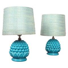 Italian Pair of Ceramic Table Lamp