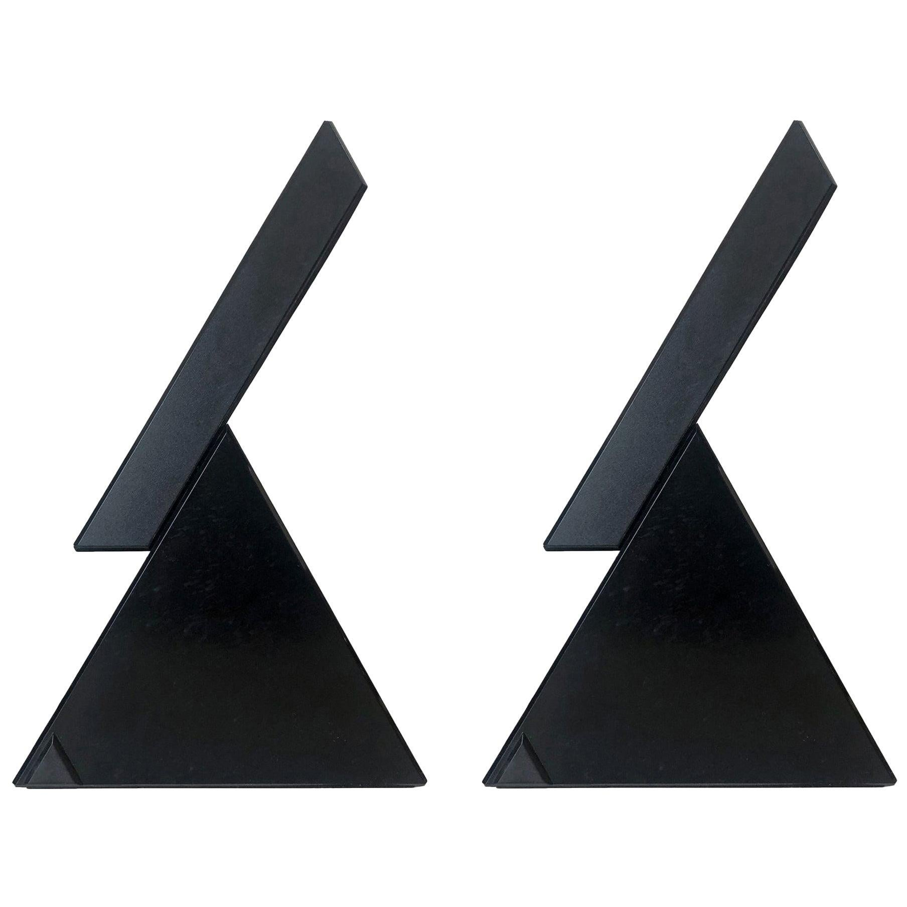 "Italian Pair of ""Delta"" Table Lamps by Mario Bertorelle for JM RDM, 1980s"
