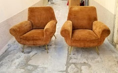 Italian Pair of Gigi Radiche Chairs